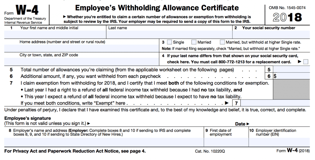 w4 allowances tax form allowance