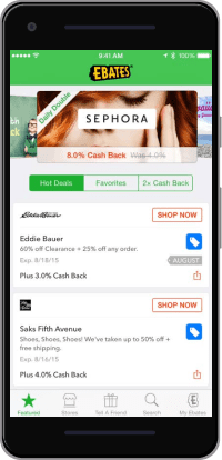 Ebates App Screenshot Review