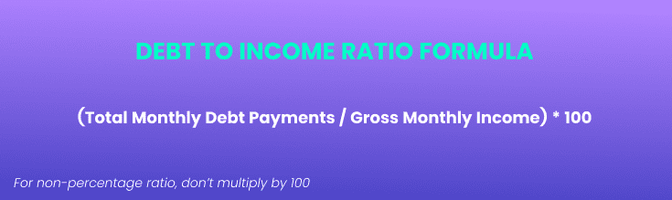 debt to income ratio formula