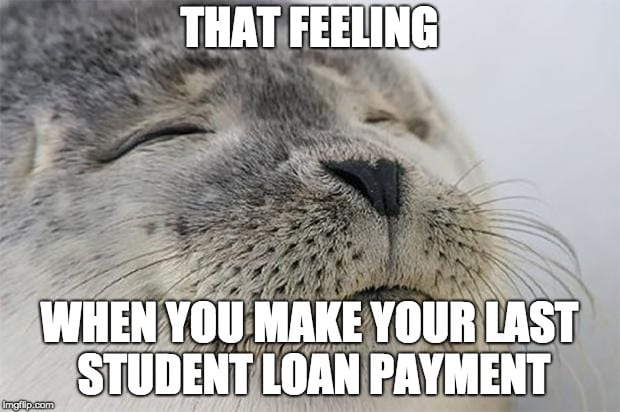 student loan meme pay off debt meme