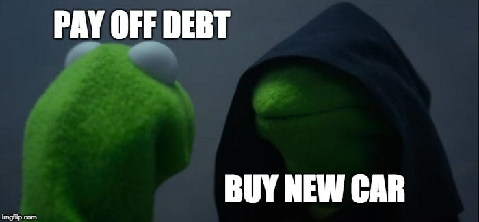pay off debt meme