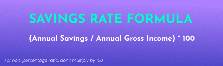Savings Rate Formula