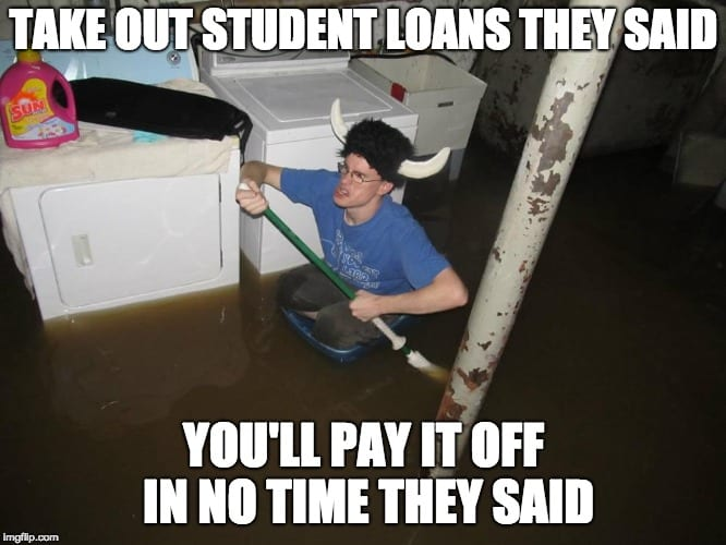 student loan meme viking