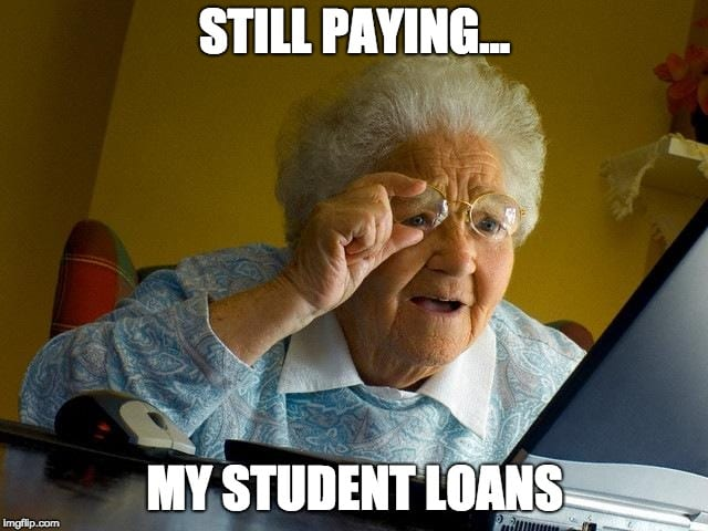 Image result for student loan meme