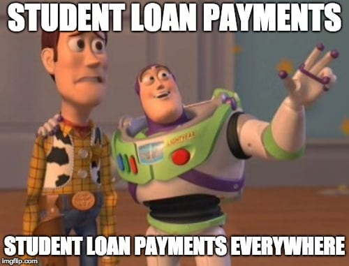 student loan meme payments everywhere