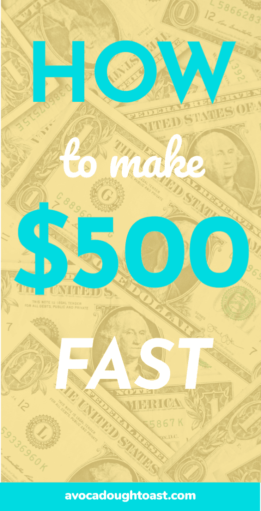 How to make $500 dollars fast pin