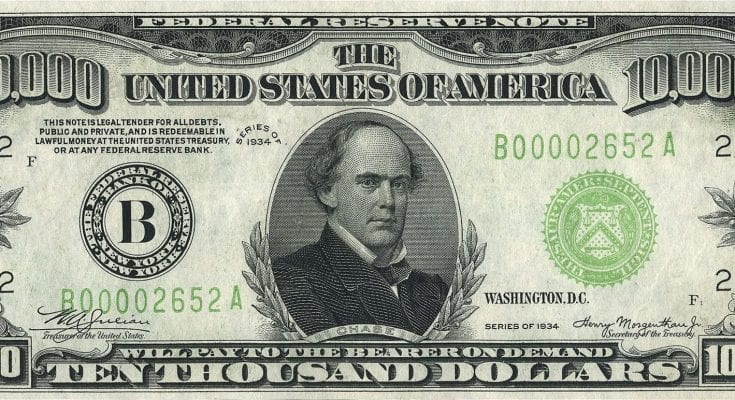$10,000 Dollar Bill Cover