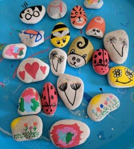 Assorted Painted Rocks