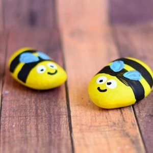 cute bee rocks