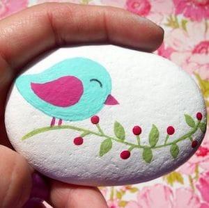 bird flower rock