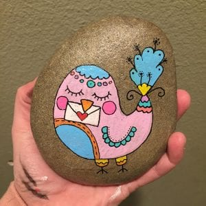 Cute Bird Painted Rock