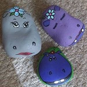cute hippo rocks