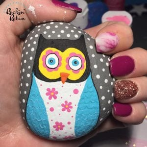 Cute Owl Rocks