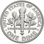 Reverse-side of the dime.