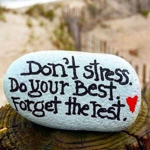 don't stress painted rock