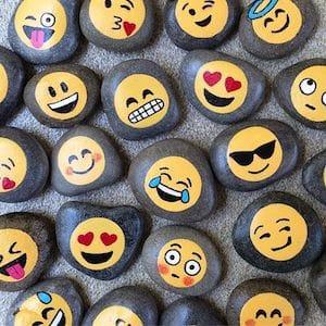 Emoji Painted Rocks