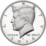 John F Kennedy is on the Half Dollar