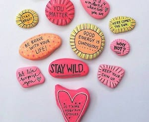 stay wild quote rocks