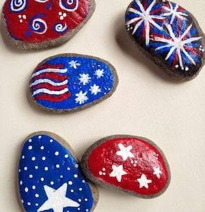 Patriotic Flag Rocks