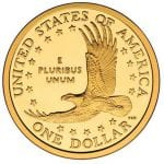 Sacagawea Dollar Backside depicting Eagle