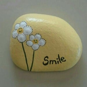 smile painted rock