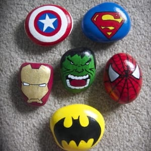 Superhero Painted Rocks