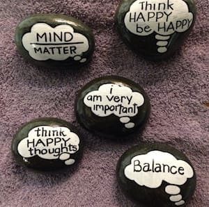 thought bubble rocks