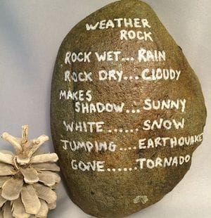 weather forecast painted rock