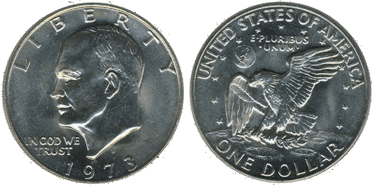 Eisenhower Dollar Coin Picture