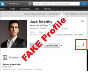 fake profile linked in jack mcarthy