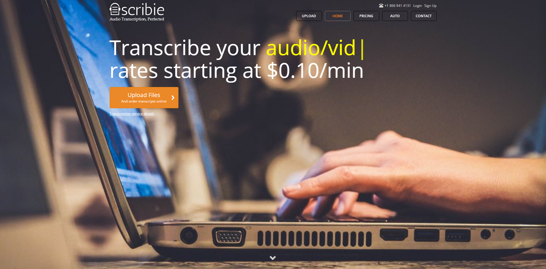 Scribie Audio Video Transcription Starting at $0.10 min