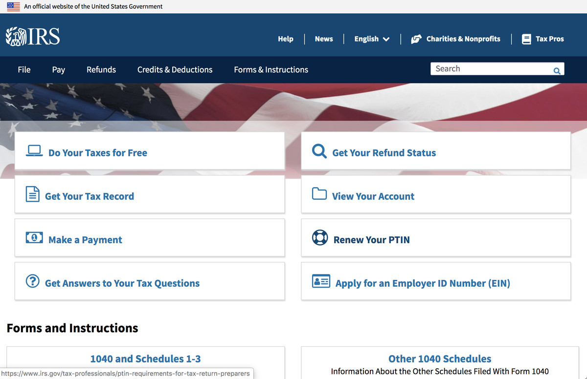With IRS Online Fillable Forms