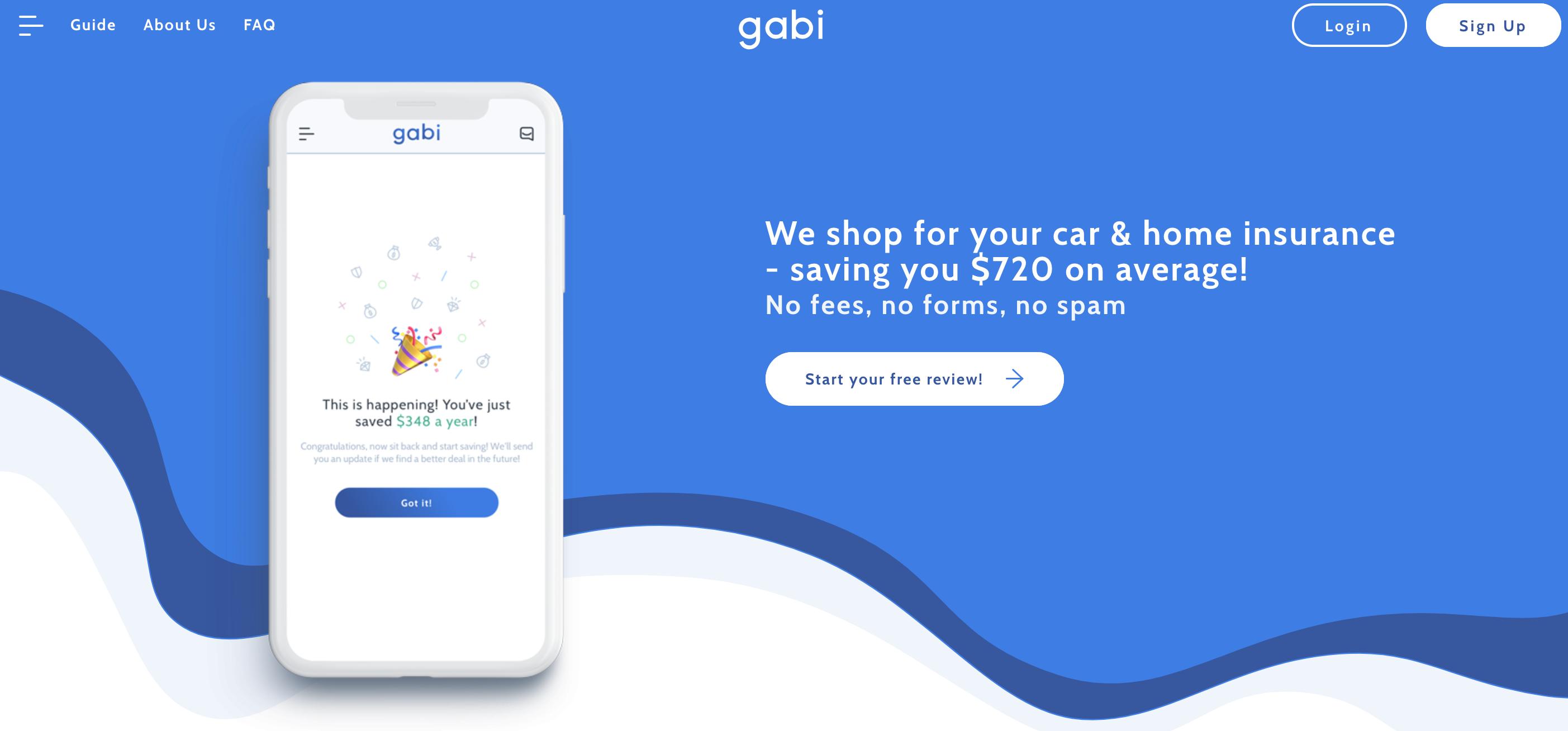 sign up for Gabi