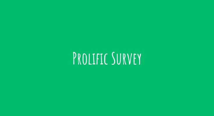 prolific survey