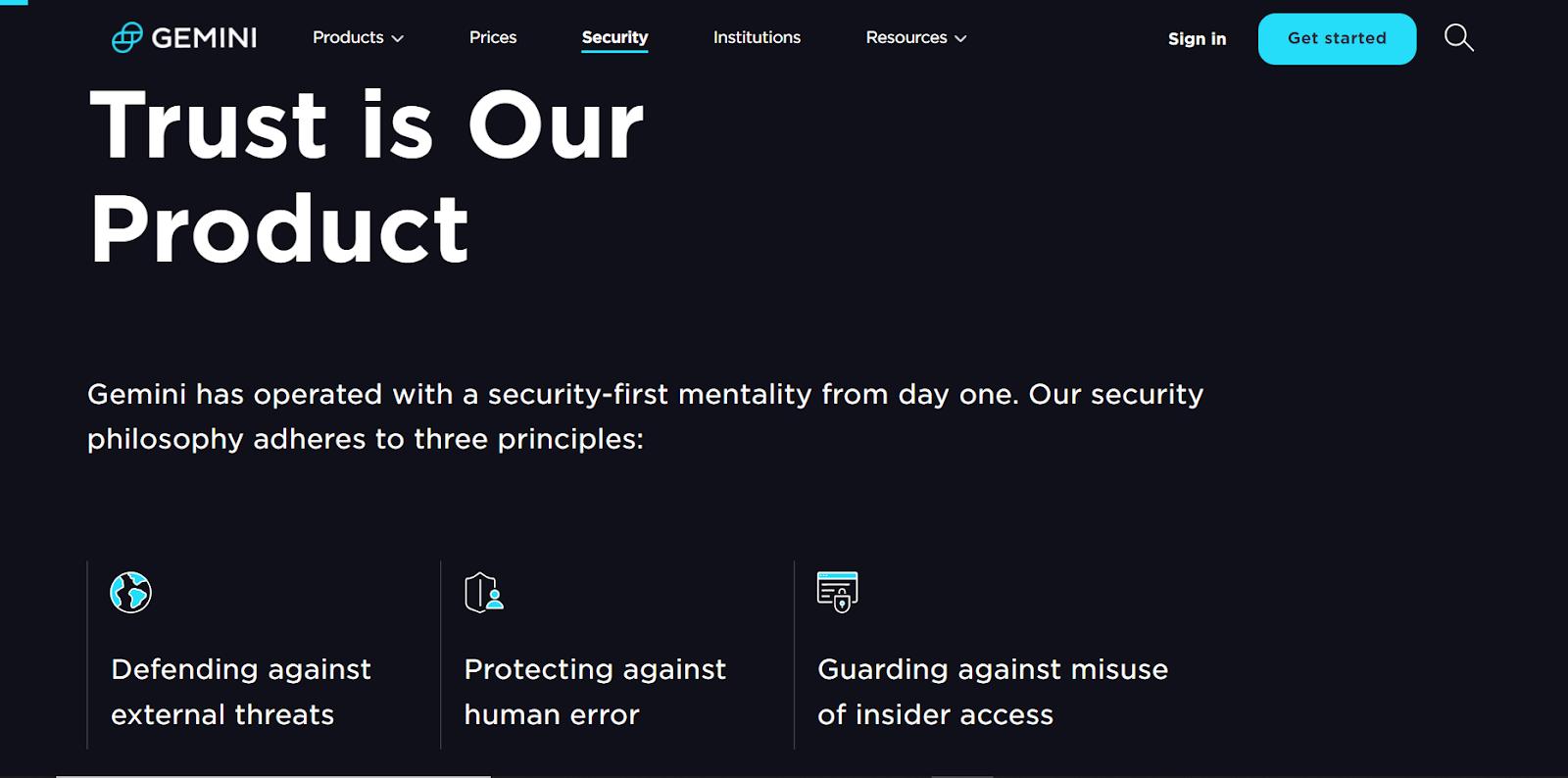 Gemini Security Features