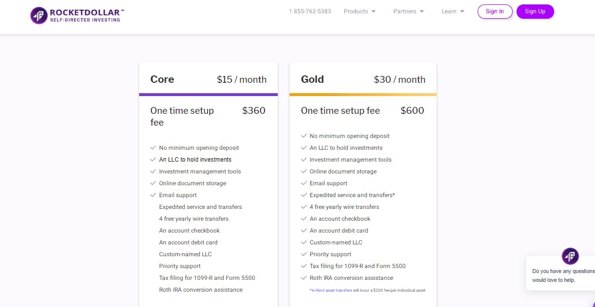 Rocket Dollar Review - Accounts